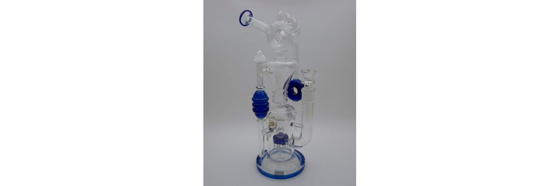 Tsunami Clear/Blue Water Pipe